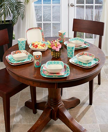 Floral Lattice Escape Tabletop Collection