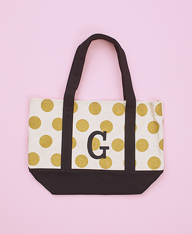 Gold Dot Monogram Totes