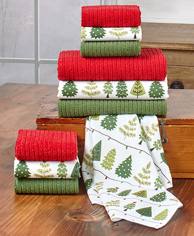 10 Pc Holiday Kitchen Towel Sets Ltd Commodities