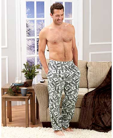 Men's Novelty Fleece Lounge Pants