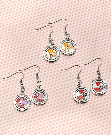 Floating Charm Earrings