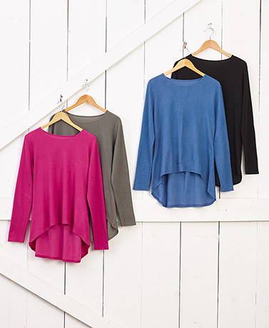 Women's Sets of 2 Relaxed Fit Thermal Tops