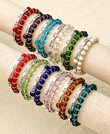 Sets of 2 Birthstone Stretch Bracelets