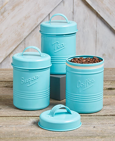 Sets of 3 Vintage Metal Canisters