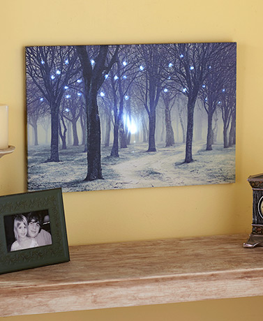 Lighted Treescapes Canvas Wall Art