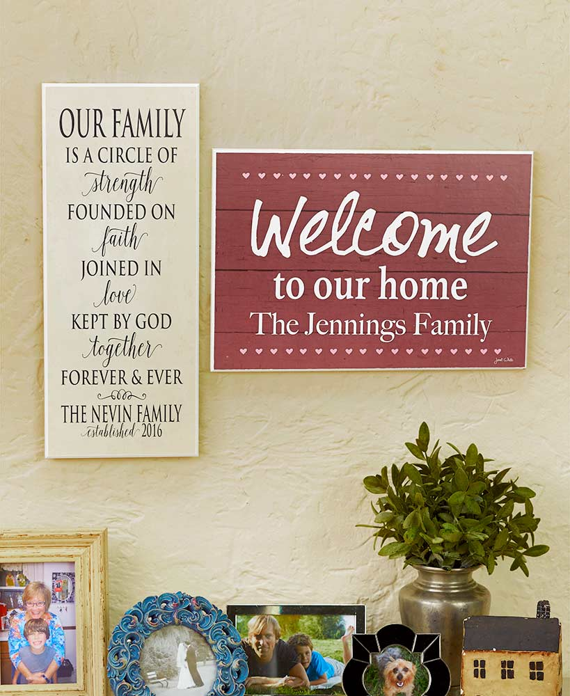 personalized home or family wall plaques ltd commodities