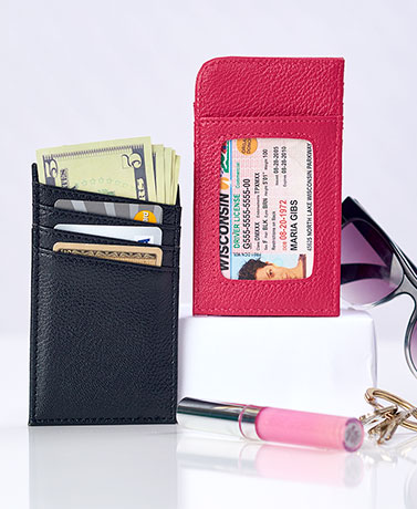 Sets of 2 Slim RFID Card Wallets
