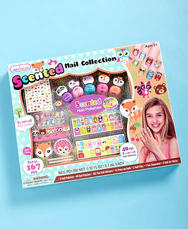 167-Pc. Scented Nail Collection