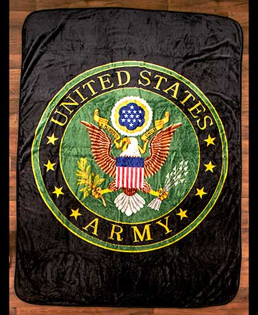 "Army Jumbo 60"" x 80"" Plush Military Throw"
