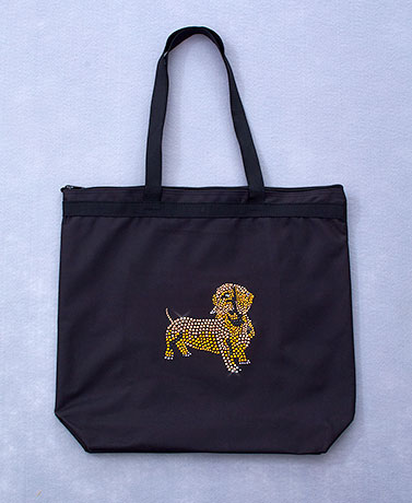 Dog Breed Bling Totes by Lyn Dorf