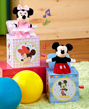 Mickey or Minnie Jack-in-the-Box