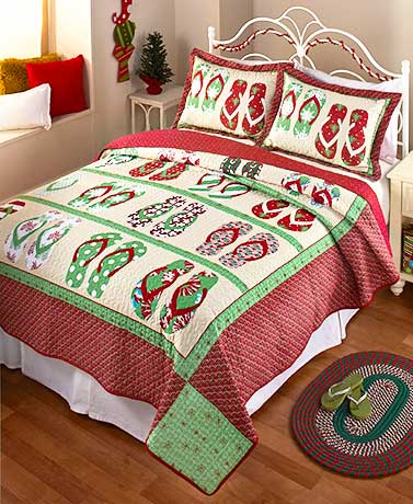 Flip-Flop Holiday Quilt or Sham
