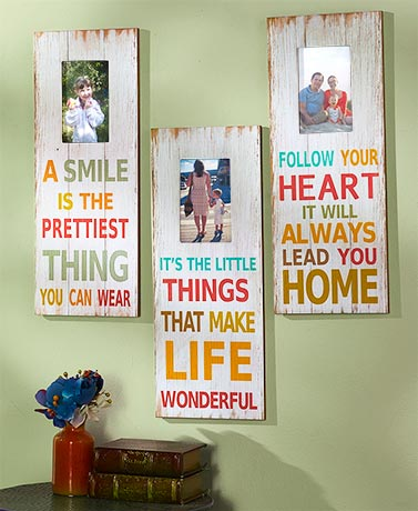 Colorful Sentiment Photo Plaques
