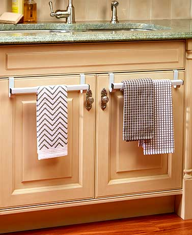 Sets of 2 Over-the-Cabinet-Door Towel Bars