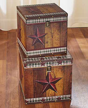 Sets of 2 Decorative Trunks