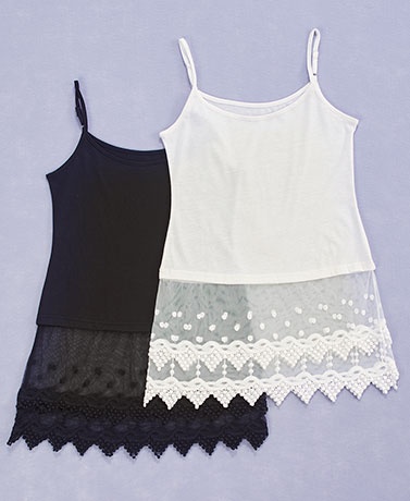 Women's 2-Pk. Lace Trim Top or Dress Extenders