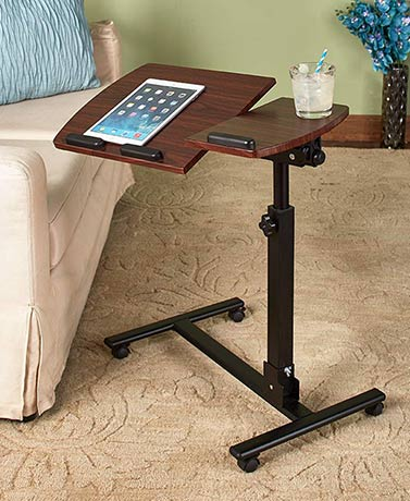 Adjustable Rolling Desk