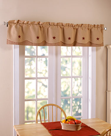 Country Star Layered Window Valances