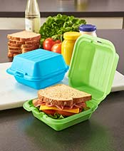Set of 2 Fast Food-Style Sandwich Boxes