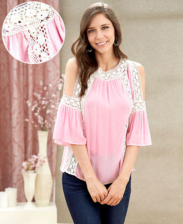 Women's Romance Bell Sleeve Tops