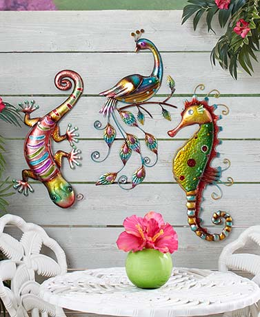 Colorful Metal Wall Sculptures