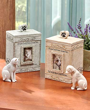 Faithful Angel Pet Memorial Figurines or Urns