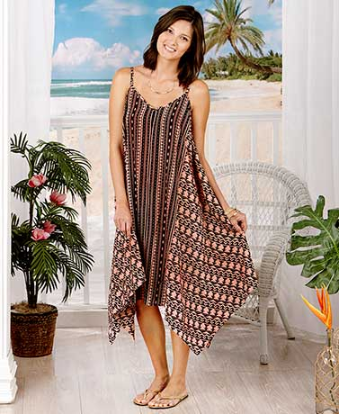 Women's Breezy Long Scarf Dresses