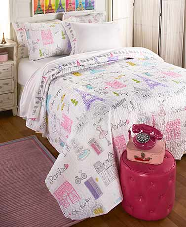 Ooh La La! Paris Quilt or Sheet Sets