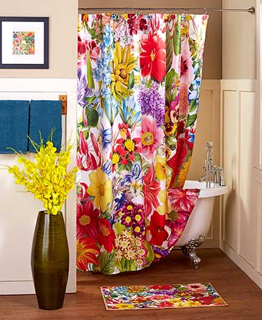 Floral Jumble Bathroom Collection