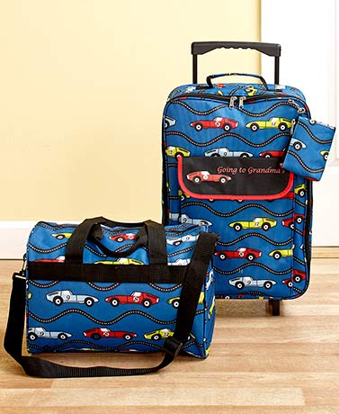 Kids' Going to Grandma's 3-Pc. Luggage Sets - Cars
