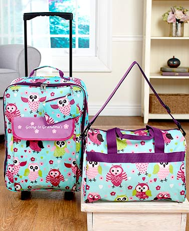 Kids' Going to Grandma's 3-Pc. Luggage Sets - Owl