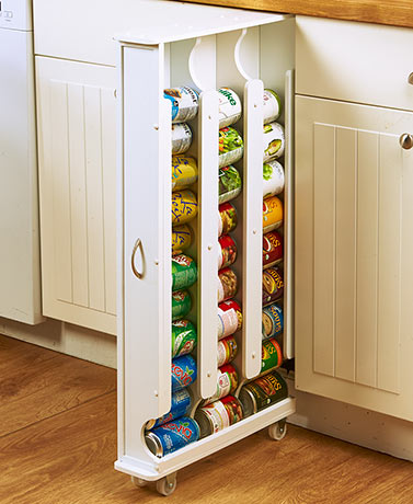 Space-Saving Can Storage Racks