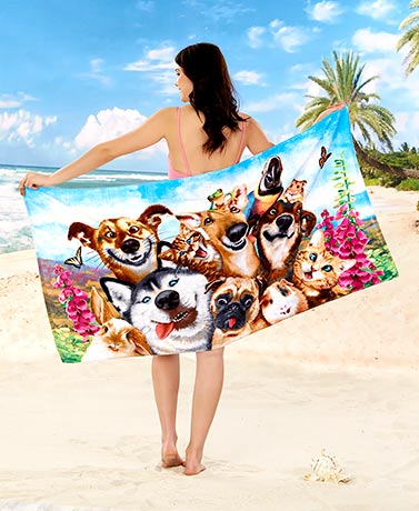 Animal Selfie Beach Towels - Pets