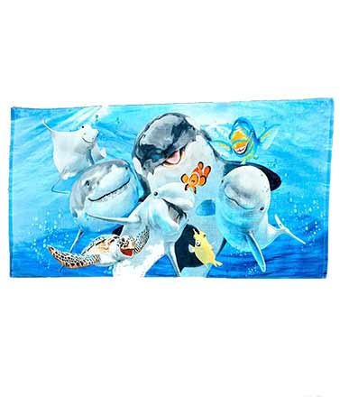 Animal Selfie Beach Towels - Sea Life