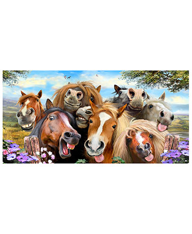 Animal Selfie Beach Towels - Horses