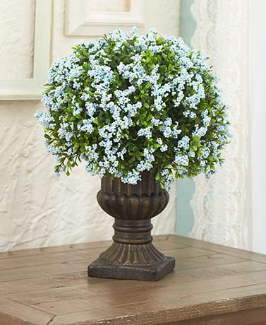 Decorative Urns with Faux Florals