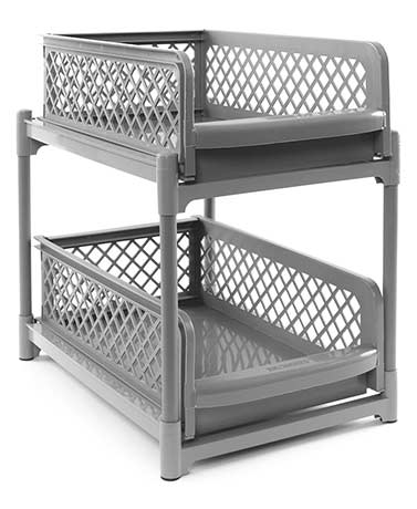 2-Tier Sliding Cabinet Drawer Baskets