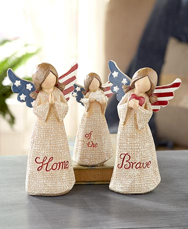 Home of the Brave 3-Pc. Angel Figurine Sets
