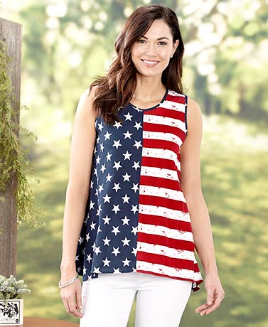 Women's American Flag Tunic