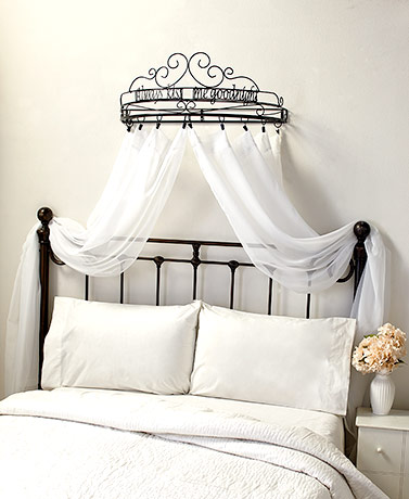 Sentiment Bed Crown Curtain Holders