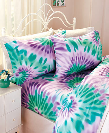 Good Vibes Tie-Dye Sheet Sets