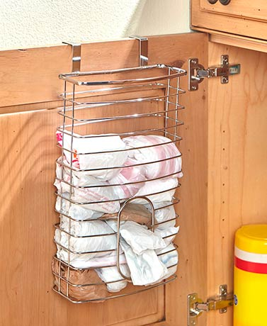 Chrome Cabinet Door Storage Organizers