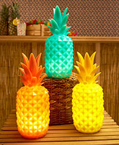 Lighted Pineapple Decorative Accent