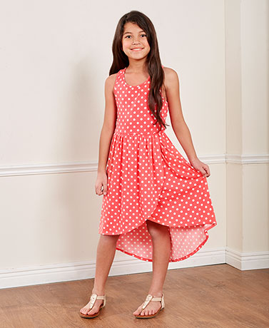 Girls' Polka Dot Knit Dresses
