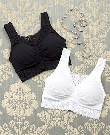 Set of 2 Lace Modesty Comfort Bras