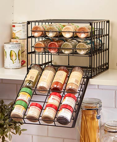 Metal Cabinet Spice Rack