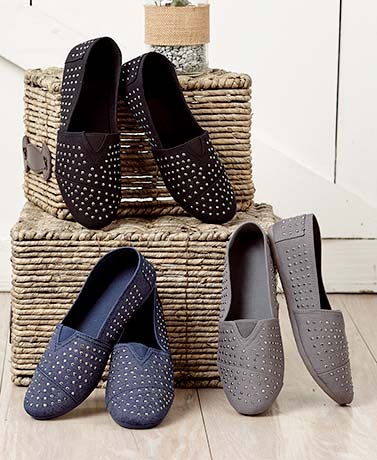 Slip-On Studded Shoes