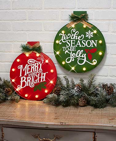 Lighted Ornament Wall Hangings