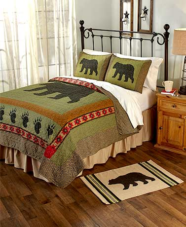 3-Pc. Black Bear Quilt Set