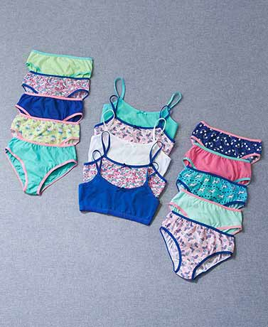 Girls' 15-Pc. Bra and Panty Sets